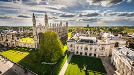 Całoroczny kurs językowy w Cambridge, Unwersytet w Cambrige widziany z góry