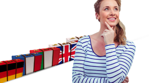 Kobieta dostrzegająca korzyści zagranicznego kursu językowego