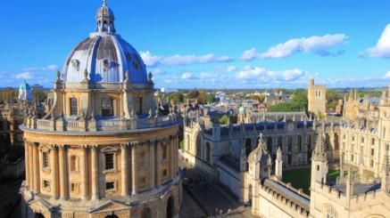 Kurs językowy w Oksfordzie, widok na budynki uniwersytetu Oxford